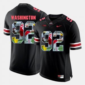 Men Ohio State #92 Adolphus Washington Black Pictorial Fashion Jersey 854053-828
