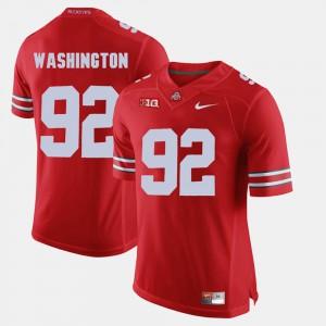 For Men Ohio State #92 Adolphus Washington Scarlet Alumni Football Game Jersey 772431-487