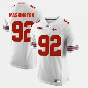 Mens Buckeye #92 Adolphus Washington White Alumni Football Game Jersey 919405-311