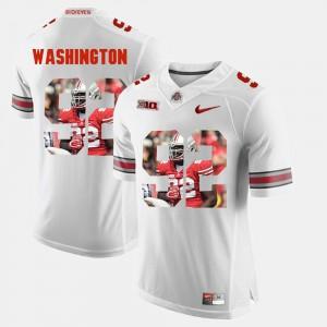Men OSU #92 Adolphus Washington White Pictorial Fashion Jersey 344328-169