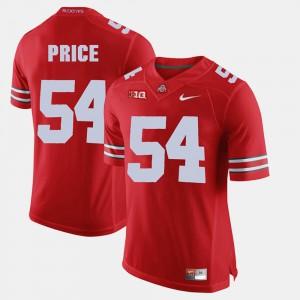 Men's OSU Buckeyes #54 Billy Price Scarlet Alumni Football Game Jersey 286826-773