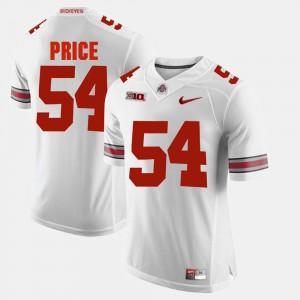 Mens Ohio State #54 Billy Price White Alumni Football Game Jersey 295667-207