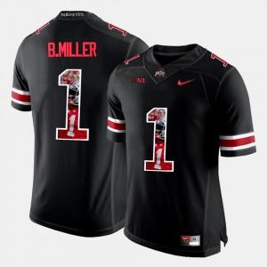 For Men's Ohio State Buckeyes #1 Braxton Miller Black Pictorial Fashion Jersey 482227-891