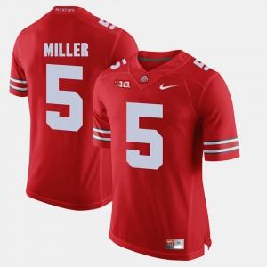 For Men Ohio State Buckeyes #5 Braxton Miller Scarlet Alumni Football Game Jersey 170071-893