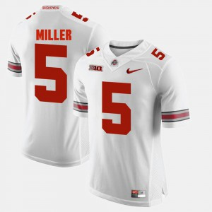 For Men's Ohio State #5 Braxton Miller White Alumni Football Game Jersey 363343-176