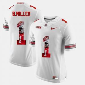 Mens Buckeye #1 Braxton Miller White Pictorial Fashion Jersey 490640-262