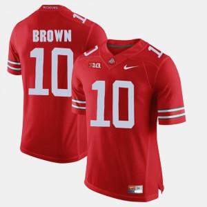 Men Ohio State #10 CaCorey Brown Scarlet Alumni Football Game Jersey 709076-783