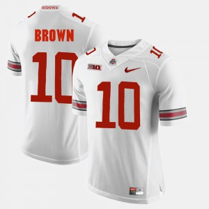 Mens OSU #10 CaCorey Brown White Alumni Football Game Jersey 770245-268