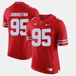 For Men OSU Buckeyes #95 Cameron Johnston Scarlet Alumni Football Game Jersey 760820-669
