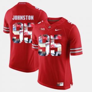 Men's Ohio State #95 Cameron Johnston Scarlet Pictorial Fashion Jersey 856550-224