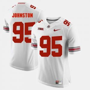 For Men Ohio State Buckeyes #95 Cameron Johnston White Alumni Football Game Jersey 650577-613