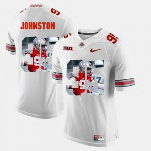 For Men's Ohio State Buckeye #95 Cameron Johnston White Pictorial Fashion Jersey 166313-347