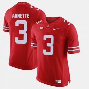 Men's Ohio State Buckeye #3 Damon Arnette Scarlet Alumni Football Game Jersey 493120-143