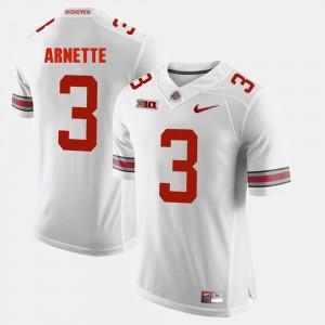 For Men's OSU Buckeyes #3 Damon Arnette White Alumni Football Game Jersey 805311-928