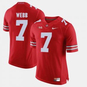 For Men OSU Buckeyes #7 Damon Webb Scarlet Alumni Football Game Jersey 244572-359