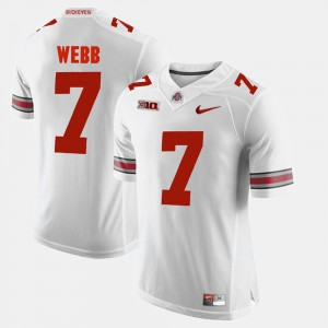 For Men's OSU Buckeyes #7 Damon Webb White Alumni Football Game Jersey 293927-436