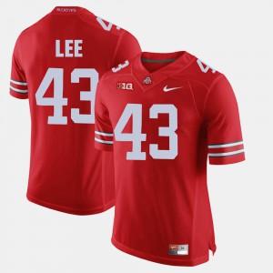For Men Buckeyes #43 Darron Lee Scarlet Alumni Football Game Jersey 672779-895