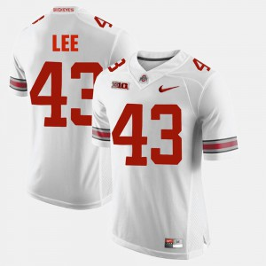 Men's OSU Buckeyes #43 Darron Lee White Alumni Football Game Jersey 971265-232