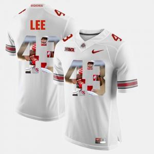 Men's Ohio State #43 Darron Lee White Pictorial Fashion Jersey 938075-256