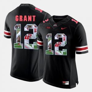 Mens Ohio State #12 Doran Grant Black Pictorial Fashion Jersey 166063-818