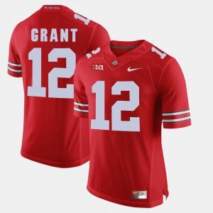 Men Buckeyes #12 Doran Grant Scarlet Alumni Football Game Jersey 414153-916