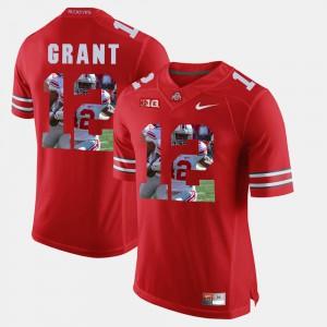 Men's Ohio State #12 Doran Grant Scarlet Pictorial Fashion Jersey 232807-132