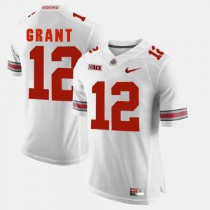 For Men's Buckeyes #12 Doran Grant White Alumni Football Game Jersey 924599-924