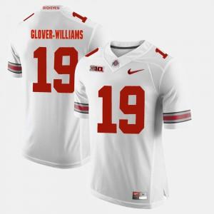 Men's Ohio State #19 Eric Glover-Williams White Alumni Football Game Jersey 351491-474