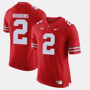 Mens Buckeye #2 J.K. Dobbins Scarlet Alumni Football Game Jersey 787721-373
