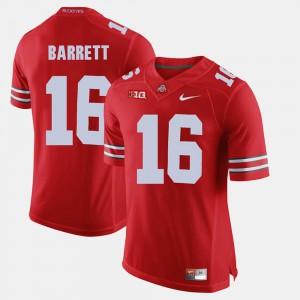 Men Ohio State Buckeye #16 J.T. Barrett Scarlet Alumni Football Game Jersey 437550-663