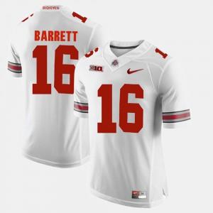 Men Buckeye #16 J.T. Barrett White Alumni Football Game Jersey 116167-514