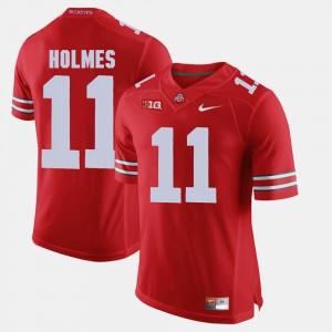 Men's OSU #11 Jalyn Holmes Scarlet Alumni Football Game Jersey 597643-461