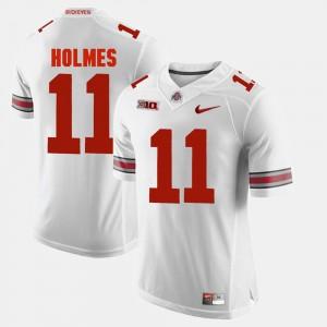 For Men OSU #11 Jalyn Holmes White Alumni Football Game Jersey 528982-892