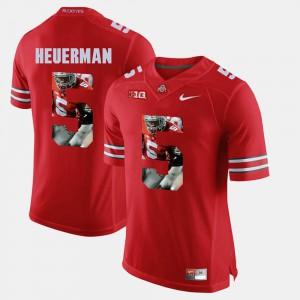 For Men's OSU #5 Jeff Heuerman Scarlet Pictorial Fashion Jersey 212866-846