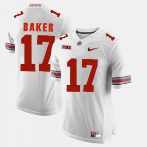 For Men OSU Buckeyes #17 Jerome Baker White Alumni Football Game Jersey 668820-955