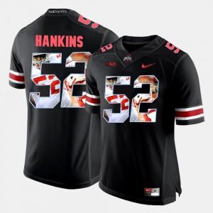 Men's Ohio State #52 Johnathan Hankins Black Pictorial Fashion Jersey 928724-441
