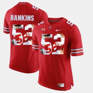 Men's Buckeyes #52 Johnathan Hankins Scarlet Pictorial Fashion Jersey 140882-444