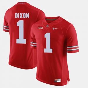 Mens Ohio State Buckeye #1 Johnnie Dixon Scarlet Alumni Football Game Jersey 125212-672