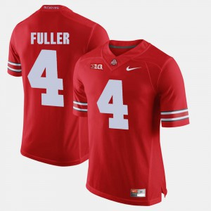 Mens Ohio State #4 Jordan Fuller Scarlet Alumni Football Game Jersey 445840-179