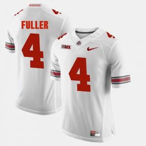 For Men's Buckeyes #4 Jordan Fuller White Alumni Football Game Jersey 350871-147