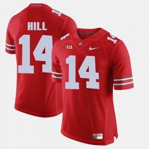 Mens Ohio State Buckeyes #14 K.J. Hill Scarlet Alumni Football Game Jersey 379647-518
