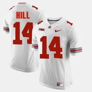 Mens OSU Buckeyes #14 K.J. Hill White Alumni Football Game Jersey 630425-783