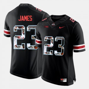 Men's OSU Buckeyes #23 Lebron James Black Pictorial Fashion Jersey 907591-933