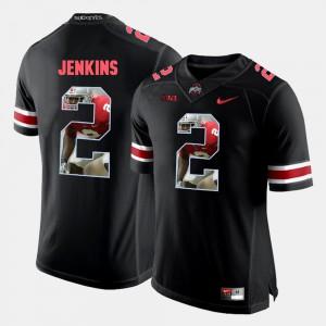 For Men OSU #2 Malcolm Jenkins Black Pictorial Fashion Jersey 206627-936