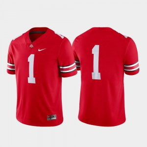 Men's Ohio State Buckeyes #1 Scarlet Game College Football Jersey 776917-555