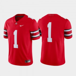 Men's OSU #1 Scarlet Limited College Football Jersey 156592-885