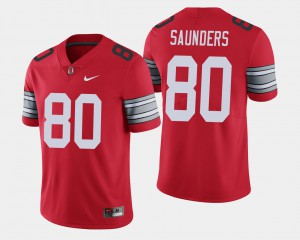 Men's Buckeye #80 C.J. Saunders Scarlet 2018 Spring Game Limited Jersey 322389-543