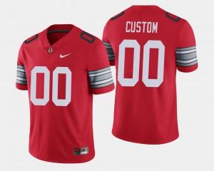 Men's Buckeyes #00 Scarlet 2018 Spring Game Limited Customized Jerseys 322742-408