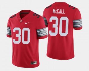 Men OSU #30 Demario McCall Scarlet 2018 Spring Game Limited Jersey 977249-455