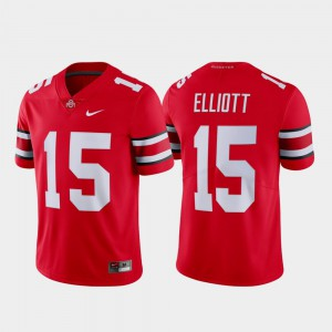 Mens OSU Buckeyes #15 Ezekiel Elliott Scarlet Limited Name & Number Jersey 595410-277